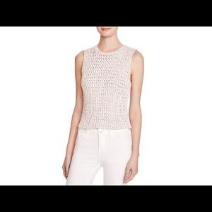 Sleeveless Cotton Shell Knit top, Size P or XS